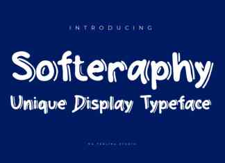Softeraphy Display Font