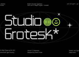 Studio Grotesk Sans Serif Font
