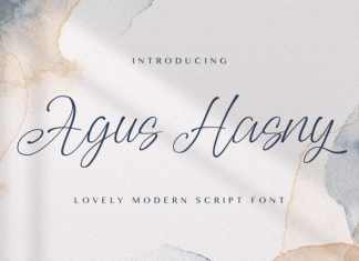 Agus Hasny Calligraphy Font