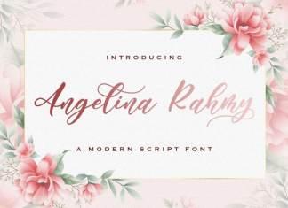 Angelina Rahmy Calligraphy Font