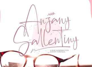 Anjany Sallentiny Script Font