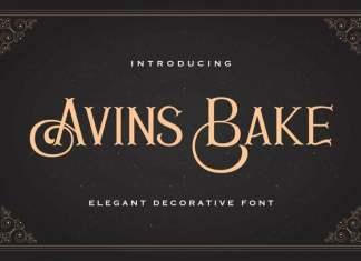 Avins Bake Display Font