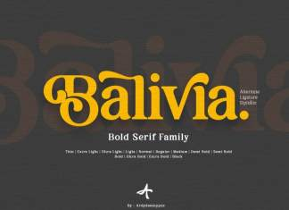 Balivia Serif Font