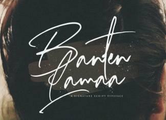 Banten Lama Handwritten Font