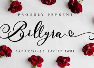 Billyra Calligraphy Font