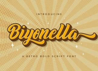 Biyonella Bold Script Font