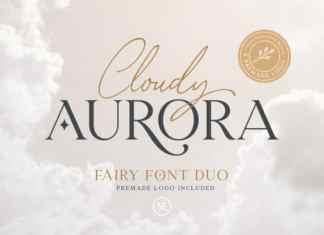 Cloudy Aurora Handwritten Font