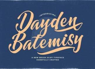 Dayden Batemisy Bold Script Font