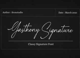 Gasthony Signature Script Font