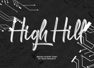 High Hill Brush Font