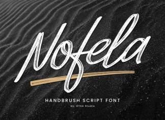 Nofela Brush Font