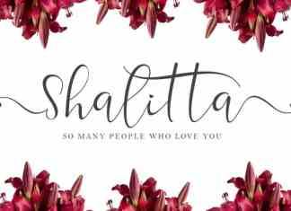 Shalitta Calligraphy Font