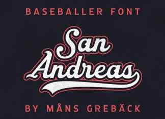 San Andreas Script Font