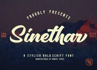 Sinethar Bold Script Font