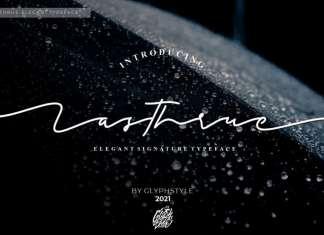 Lasthrue Signature Script Font