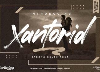 Xantorid Brush Font