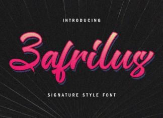 Zafrilus Bold Script Font