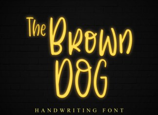 The Brown Dog Handwritten Font