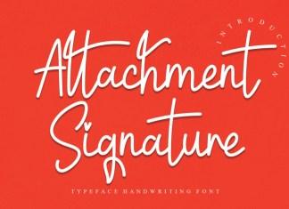 Attachment Signature Script Font