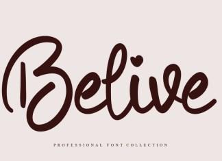 Belive Script Font