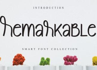 Remarkable Display Font