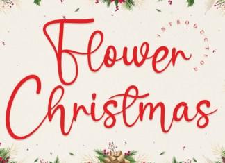 Flower Christmas Script Font