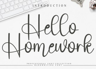 Hello Homework Script Font