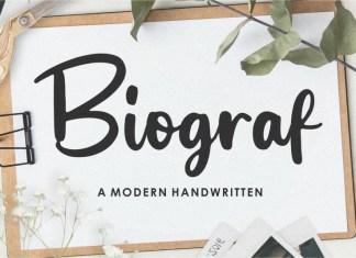 Biograf Script Font