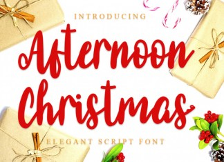 Afternoon Christmas Script Font