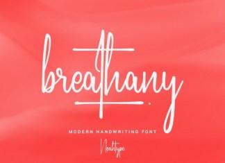 Breathany Script Font