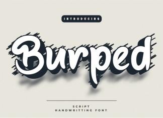 Burped Display Font