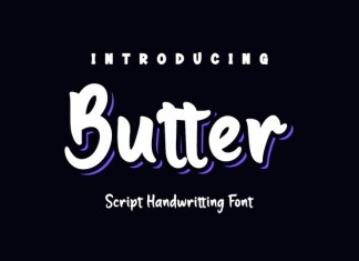 Butter Display Font