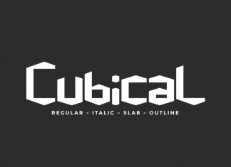 Cubical Display Font