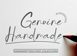 Genuine Handmade Handwritten Font