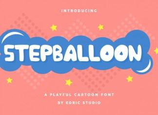 Stepballoon Cartoon Display Font