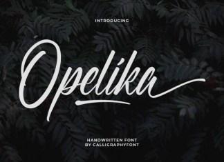 Opelika Calligraphy Font