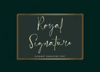 Royal Signature Script Font