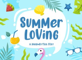 Summer Loving Display Font