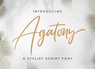 Agatony Script Font