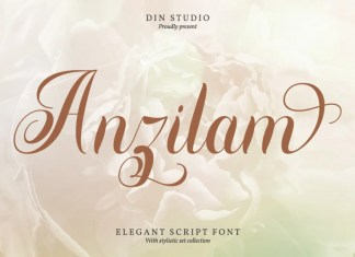 Anzilam Calligraphy Font