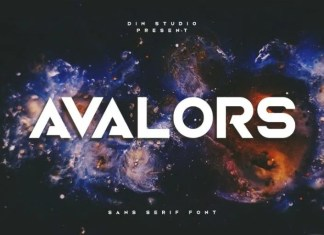 Avalors Display Font