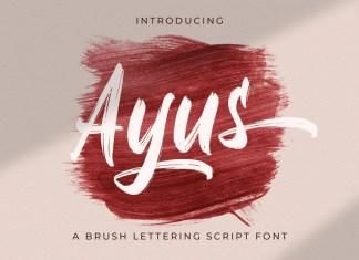 Ayus Brush Font