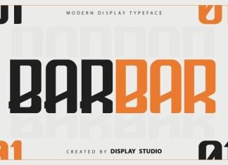 Barbar Display Font