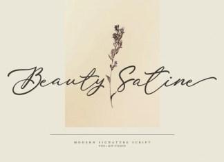 Beauty Satine Script Font