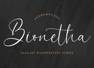 Bionetha Calligraphy Font