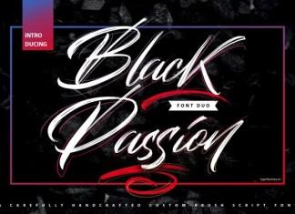 Black Passion Brush Font