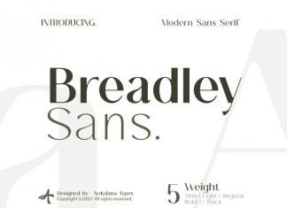 Breadley Sans Serif Font