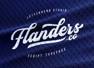 Flanders Bold Script Font