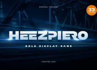Heezpiero Sans Serif Font