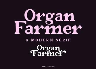 Organ Farmer Serif Font